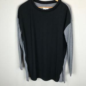 Women's Blk and Grey,  Lou & Grey Tunic Sz M